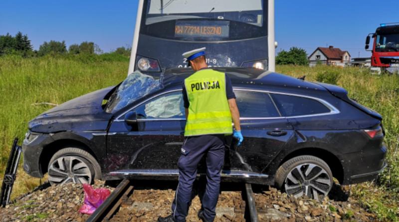 wypadek, Włoszakowice fot. policja