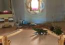 zniszczona figura, kościół pw. św. Maksymiliana Kolbe fot. FB parafii