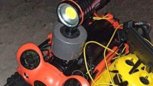dron podwodny fot. OSP Ślesin