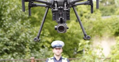 kontrole dronem fot. policja