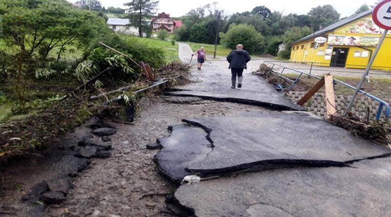 powódź w Małopolsce fot. Gmina Korzenna
