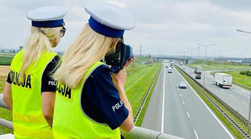 przepisowa odległość fot. policja