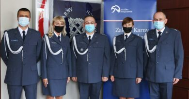świeżo mianowani oficerowie ZK Wronki fot. ZK Wronki