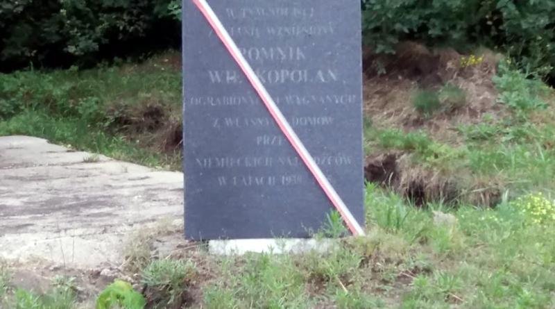 Tablica upamiętniająca wypędzonych Wielkopolan fot. UMP