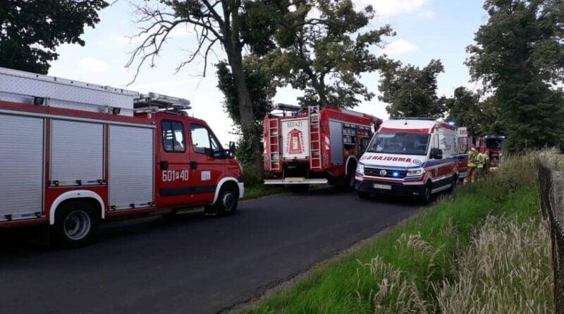 wypadek fot. OSP KSRG Dolsk