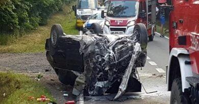 wypadek fot. PSP Szamotuły