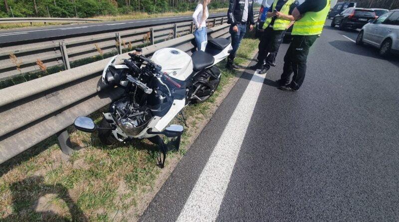 wypadek, motocyklista fot. policja