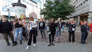 demonstracja Solidarni z Afgańczykami fot. L. Łada