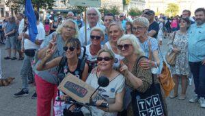 Demonstracja Wolne media fot. L. Łada