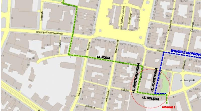 drogi dojazdu do urzędu miasta po 9 sierpnia fot. UMP