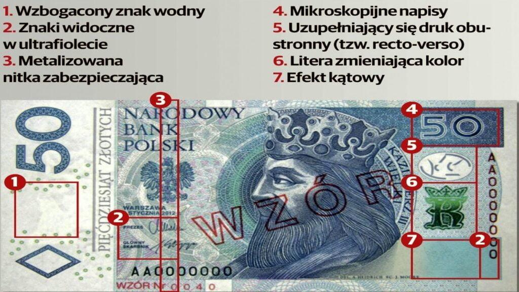 fałszywy banknot fot. policja