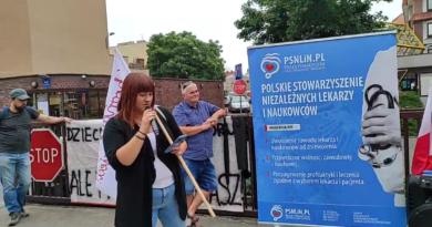 Justyna Socha, protest na Polnej fot. prt scr