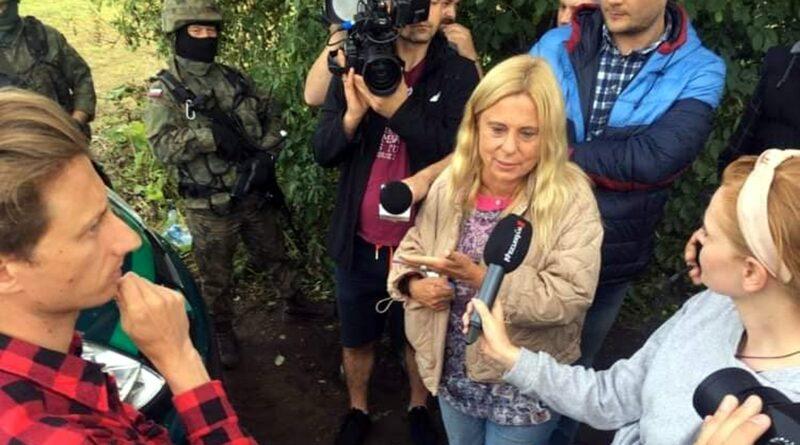 Katarzyna Kretkowska na granicy fot. K. Kretkowska FB