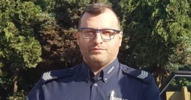 Mł. asp. Mariusz Przybył fot. policja Ostrzeszów