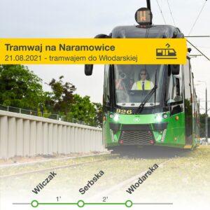plakat uruchomienia tramwaju na Naramowice fot. UMP