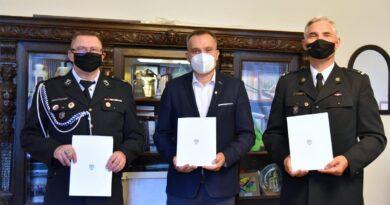 podpisanie porozumienia OSP Poznań-Krzesiny fot. UMP