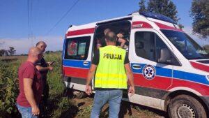 policyjny śmigłowiec, akcja ratunkowa fot. policja