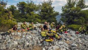 polscy strażacy w Grecji fot. KG PSP
