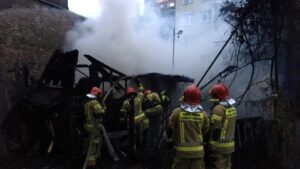 pożar fot. kpt. Fabian Kopertowicz PSP Piła