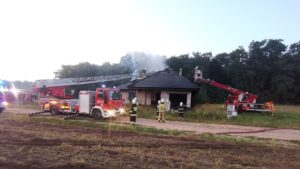pożar fot. OSP KSRG Włoszakowice