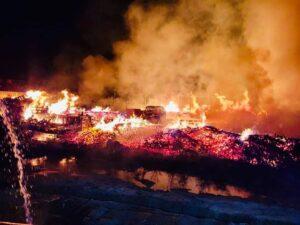 pożar Muchy, fot. OSP Trzcinica Wielkopolska