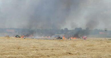 pożar ścierniska fot. OSP Przykona