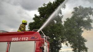 pożar w Spławiu fot. OSP KSRG Golina