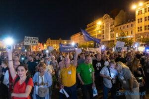 Protest Wolne Media Poznań 12.08.2021 fot. Sławek Wąchała