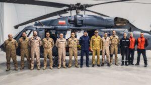 strażacy i policjanci przez wylotem do Turcji fot. KG PSP