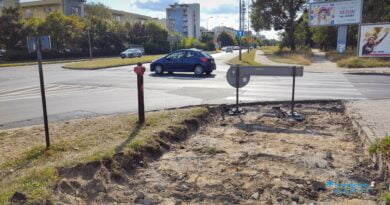 Szymanowskiego, rampy, droga rowerowa i chodnik fot. ZDM