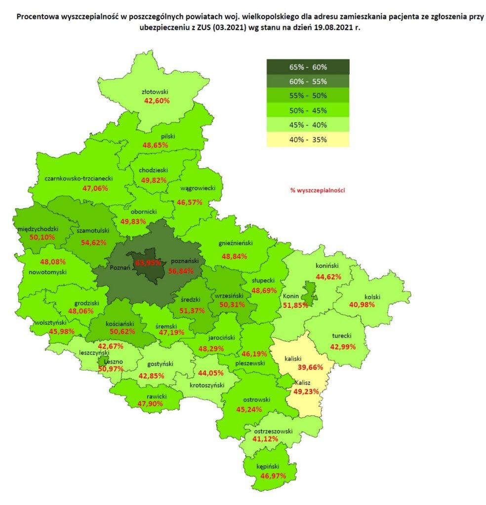 Wielkopolska - podział na regiony fot. NFZ