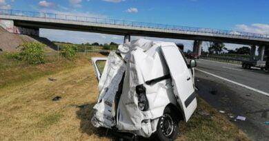wypadek na A2 fot. KPP Września