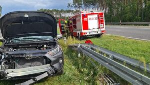 wypadek w Kępnie fot. OSP Perzów