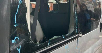 zniszczony samochód fot. ROŚŁ