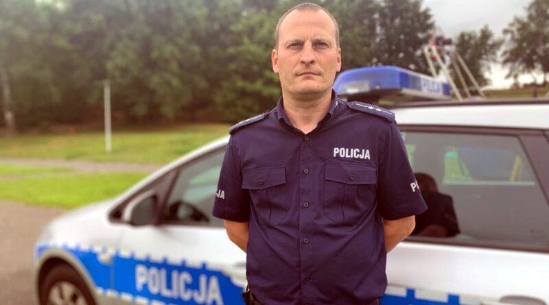 aspirant Krzysztof Mak fot. policja Poznań