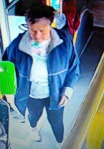 Barbara Czarnkowska w autobusie fot. policja