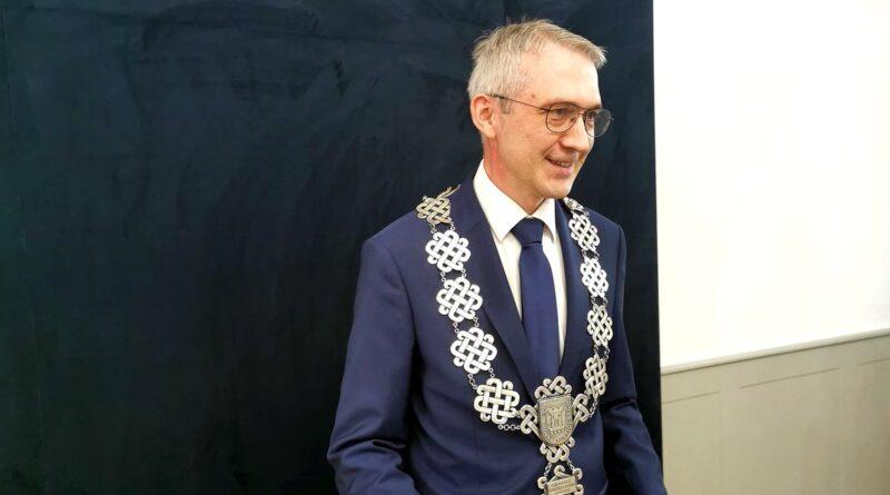burmistrz Pleszewa Arkadiusz Ptak fot. FB A. Ptak