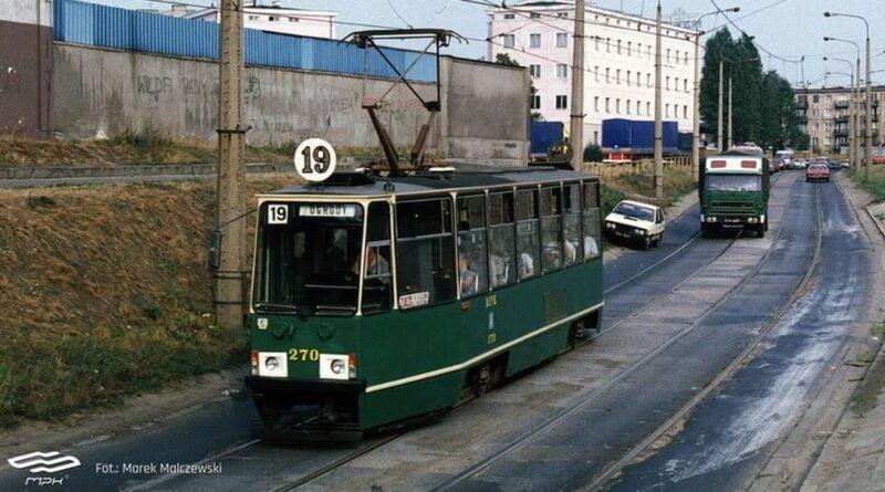 Hetmańska, trasa tramwajowa 1999, archiwum fot. MPK