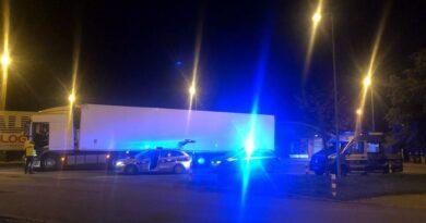 kontrola ciężarówki fot. policja Nowy Tomyśl