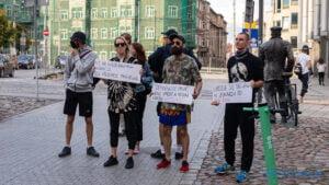 Kryzys humanitarny, a nie uchodźczy protest fot. Sławek Wąchała