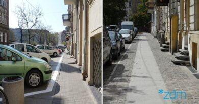 nowy i stary chodnik, Łąkowa fot. ZDM
