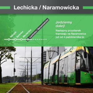 plakat, nowy przystanek tramwaju na Naramowice fot. JJ FB