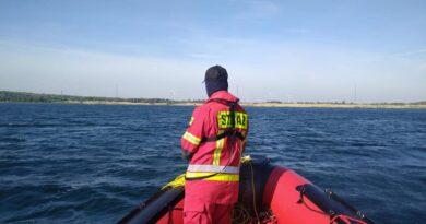 poszukiwania nurka fot. OSP Ślesin