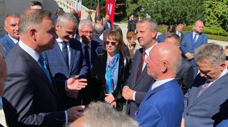 Powstanie Wielkopolskie, wręczenie apelu, Pałac Prezydencki fot. UMP