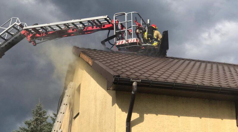 pożar domu fot. OSP Stawiszyn