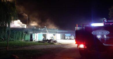 pożar Ptaszkowo, fot. OSP KSRG Grodzisk