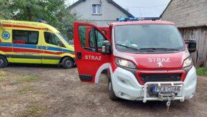 wypadek Bogusławice fot. OSP Zbiersk