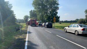 wypadek, DK15, .fot. policja Gniezno