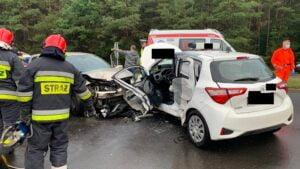 wypadek fot. PSP Piła