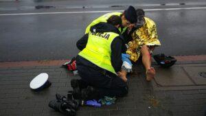 wypadek, triathlon fot. policja Poznań